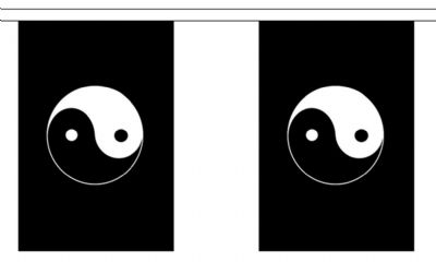 YIN AND YANG BUNTING - 9 METRES 30 FLAGS